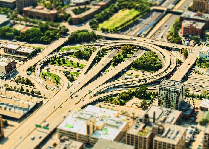 Road Greeting Card featuring the photograph Mini Motorway by Andrew Paranavitana