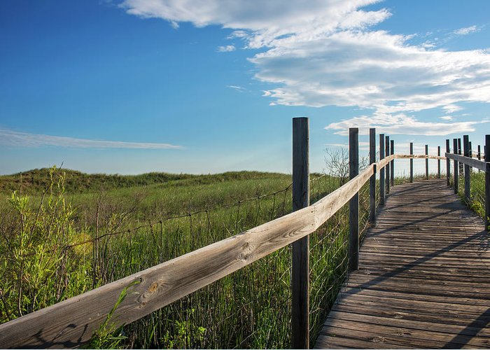 Boardwalk Greeting Card featuring the photograph Minnesota, Duluth, Park Point by Peter Hawkins
