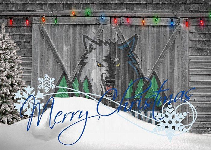 Timberwolves Greeting Card featuring the photograph Minnesota Timberwolves by Joe Hamilton