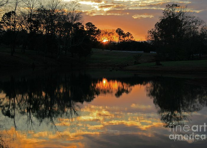 Sunset Prints Greeting Card featuring the photograph Mirror Image by Jinx Farmer