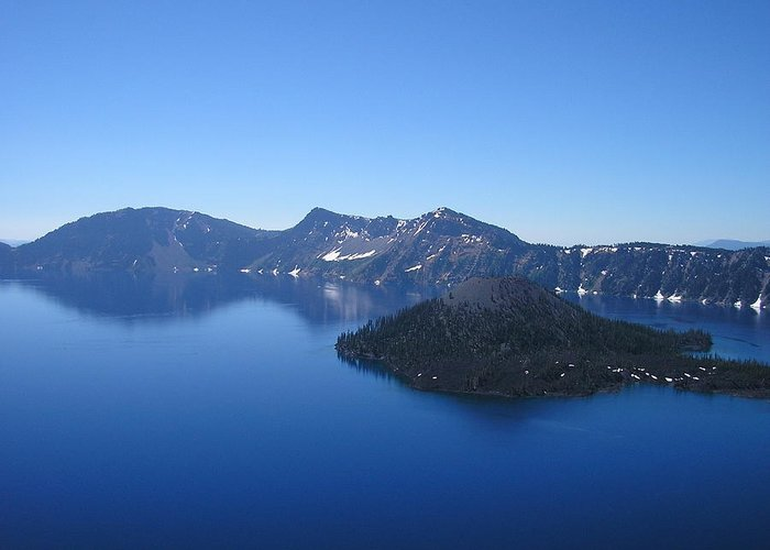 Crater Lake Greeting Card featuring the photograph Mirror Of Heaven by Sandy Davis