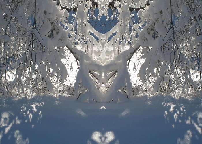 Snow Greeting Card featuring the photograph Mirror Of Snow by Cindy Greenstein