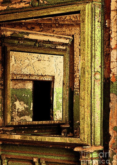 Eastern State Penitentiary Greeting Card featuring the photograph Mirror Within A Mirror by Paul W Faust - Impressions of Light