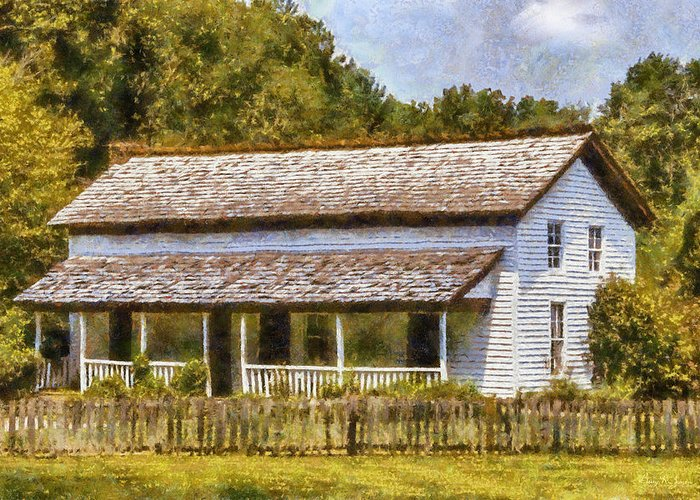 Becky Cable Greeting Card featuring the painting Miss Becky's House by Barry Jones