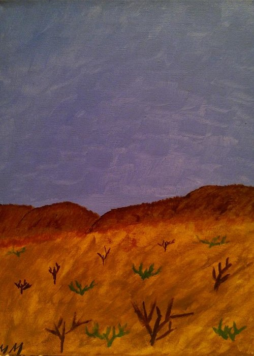 Landscape Greeting Card featuring the painting Missing Home by Mindy Matthews