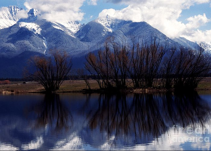 Mission Mountains Greeting Card featuring the photograph Mission Mountains Montana by Thomas R Fletcher