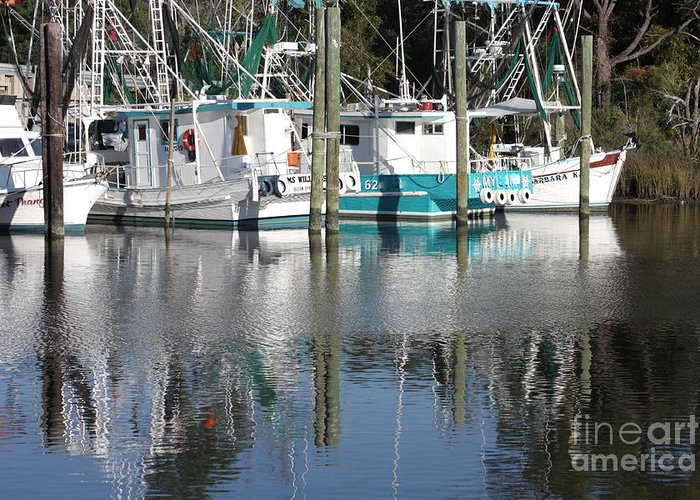 Boats Greeting Card featuring the photograph Mississippi Boats by Carol Groenen