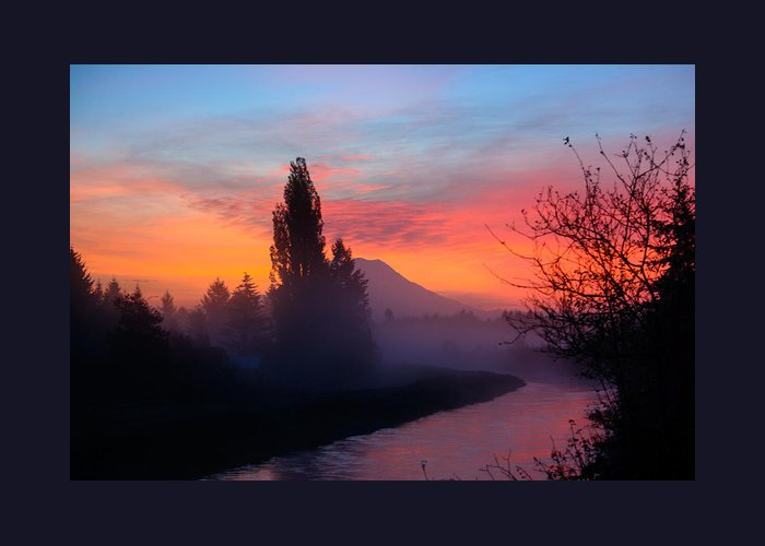 Landscape Greeting Card featuring the photograph Misty Mountain Morning by Tikvah's Hope