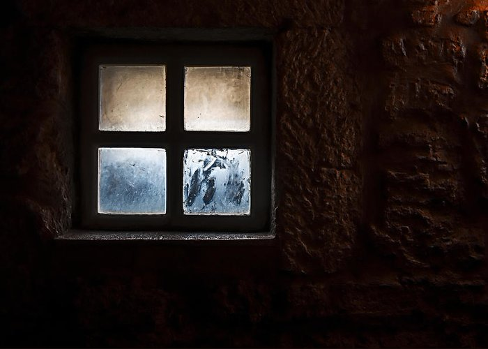 Window Greeting Card featuring the photograph Misty Window by Enrico Della Pietra