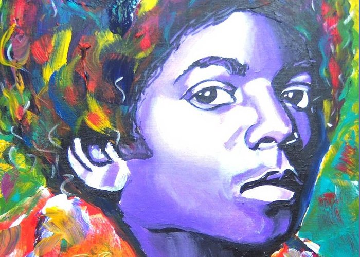 Touring Greeting Card featuring the painting MJ by Jonathan Tyson