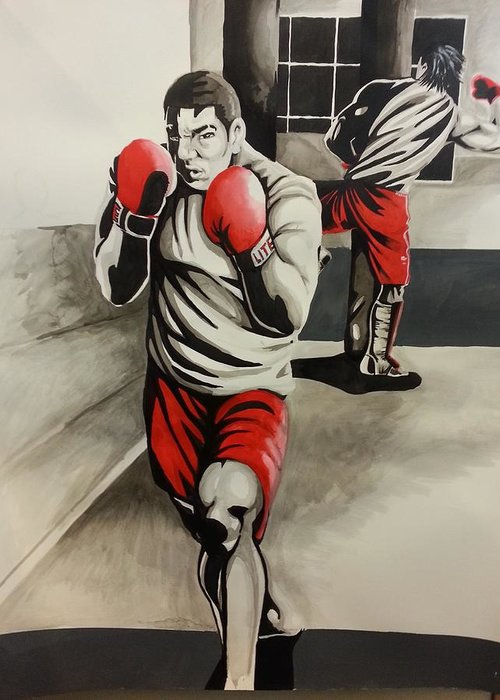 Mma Training Complete Greeting Card featuring the digital art Mma Training Complete by Michael Briggs