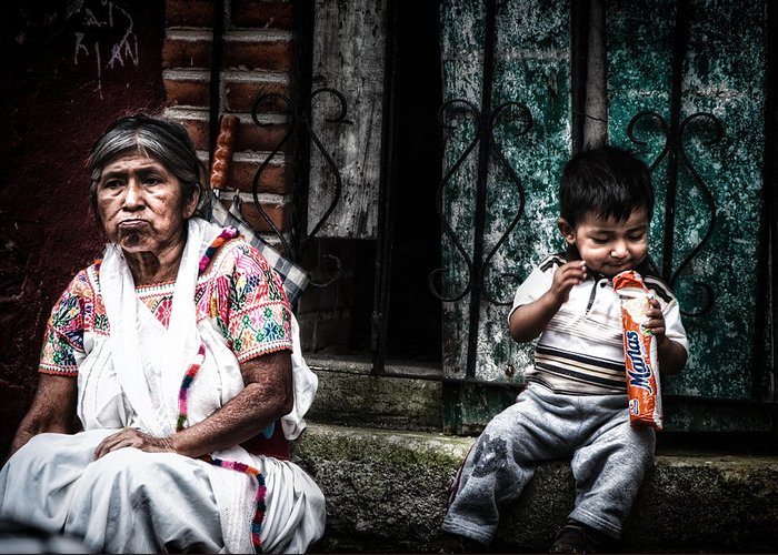 Cuetzalan Greeting Card featuring the photograph Mmm.... by Gerardo Borbolla