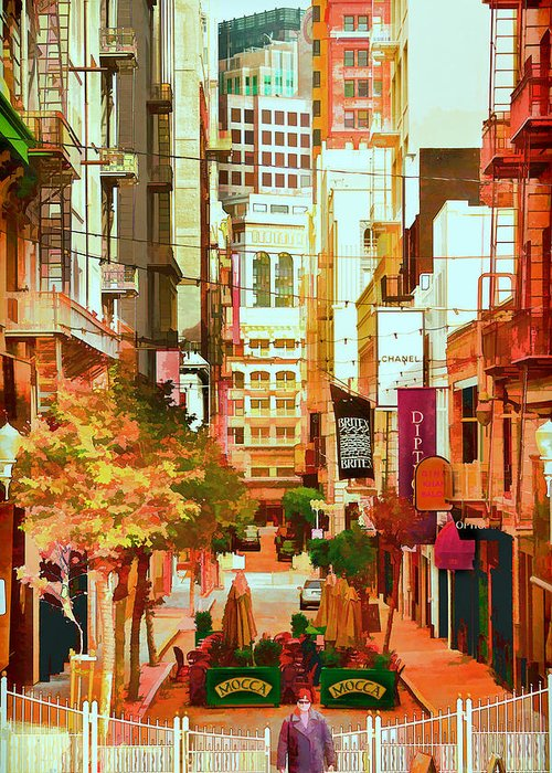 Maiden Lane Greeting Card featuring the photograph Mocca On Maiden Lane by Bill Gallagher