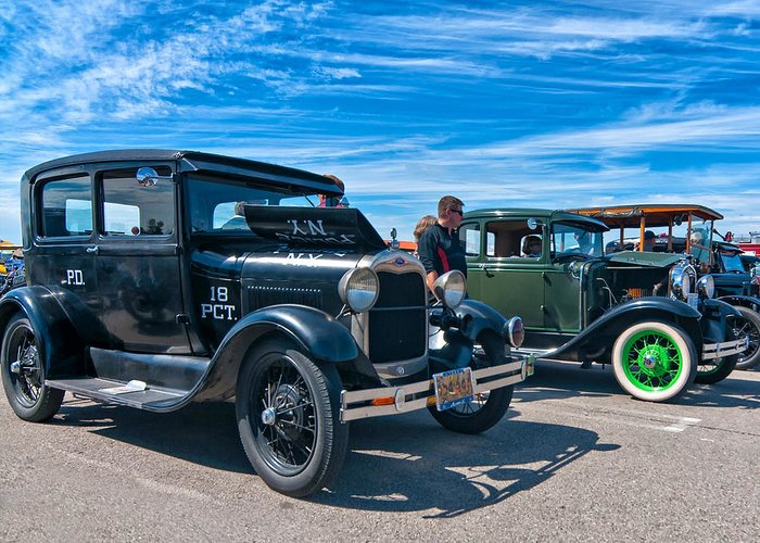 Ford Greeting Card featuring the photograph Model T Fords by Steve Harrington