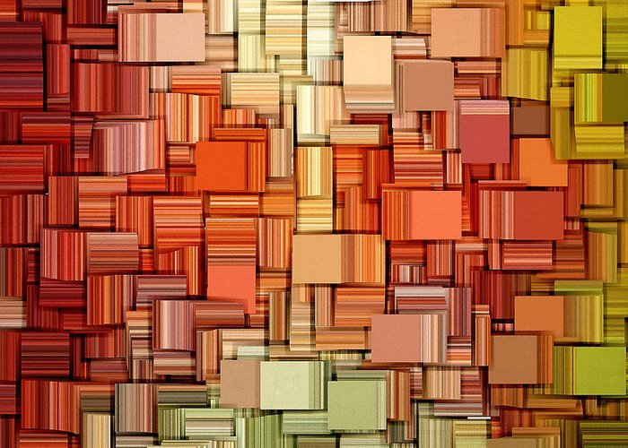 Abstract Greeting Card featuring the digital art Modern Abstract Viii by Lourry Legarde