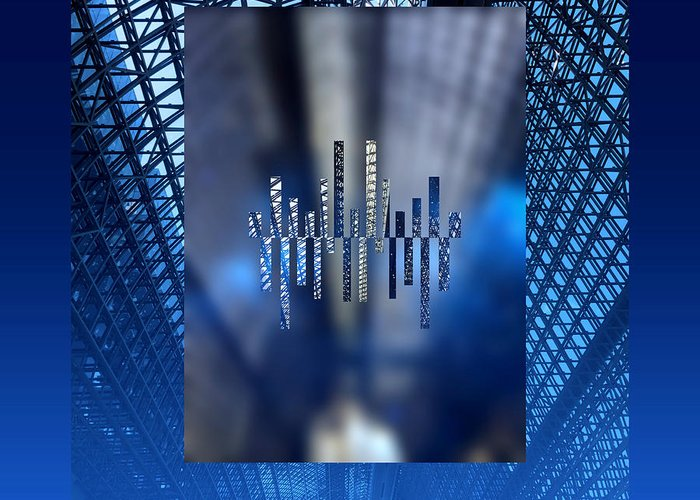 Kyoto Station Greeting Card featuring the digital art Modern Kyoto Station 1 by Beverly Claire Kaiya