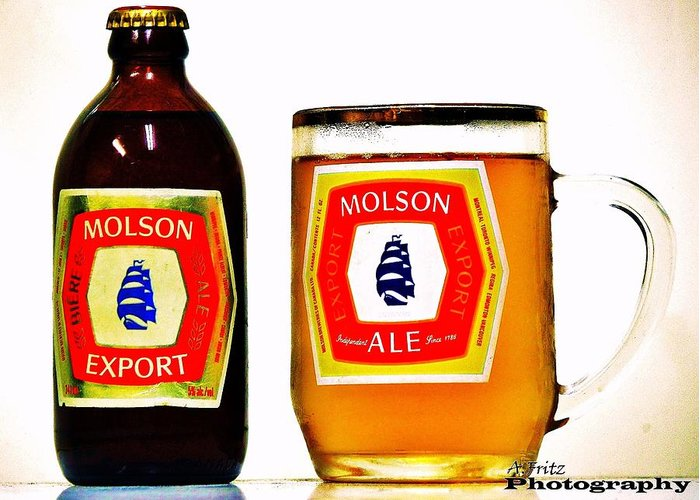 Beer Greeting Card featuring the photograph Molson Ex by Al Fritz
