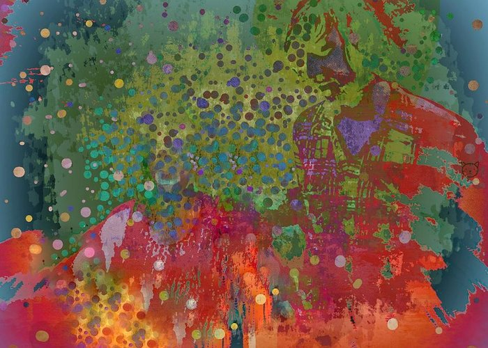 Love Greeting Card featuring the mixed media Moment by YoMamaBird Rhonda