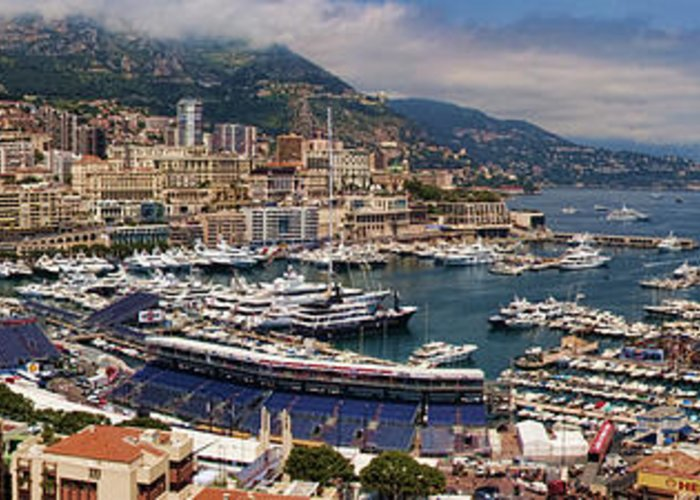 Panoramic Greeting Card featuring the photograph Monaco Panorama by David Smith