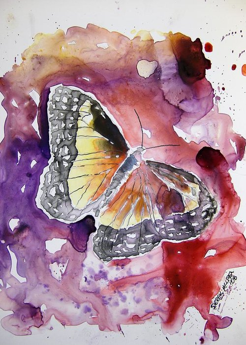 Monarch Greeting Card featuring the painting Monarch Butterfly by Derek Mccrea