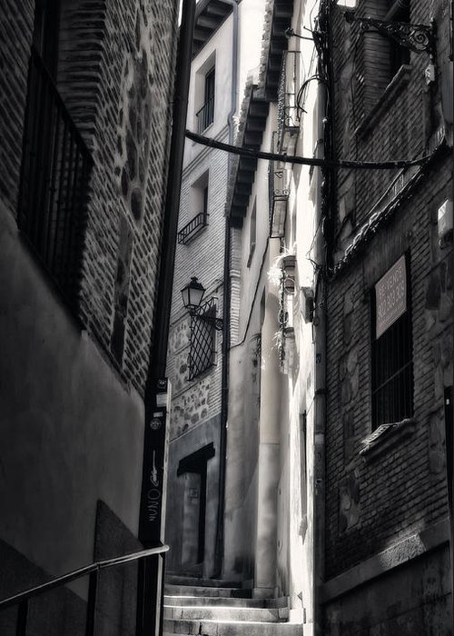 Alley Greeting Card featuring the photograph Monday Monday by Joan Carroll