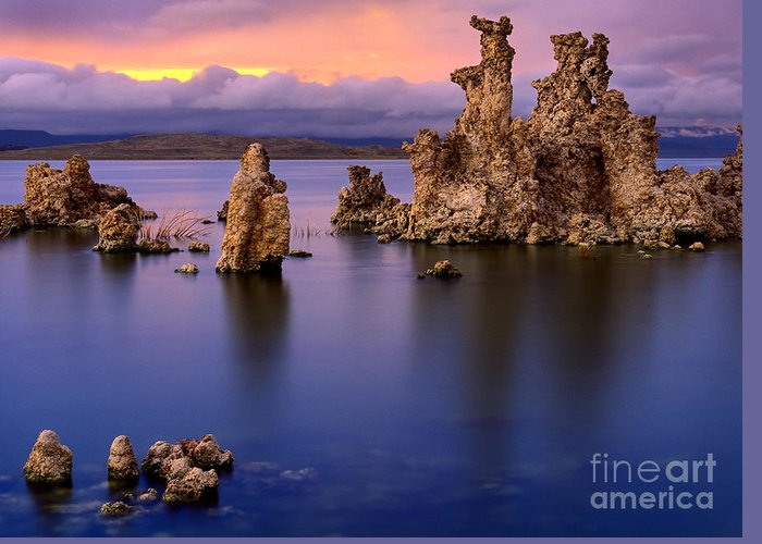 America Greeting Card featuring the photograph Mono Lake Afterglow by Inge Johnsson