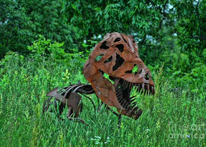 Door County Greeting Card featuring the photograph Monster In The Grass by Tommy Anderson