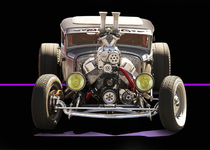 Coupe Greeting Card featuring the photograph Monster Rat Rod by Dave Koontz