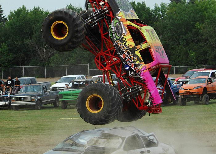Monster Trucks Size Matters 2 Greeting Card For Sale By Bob Christopher