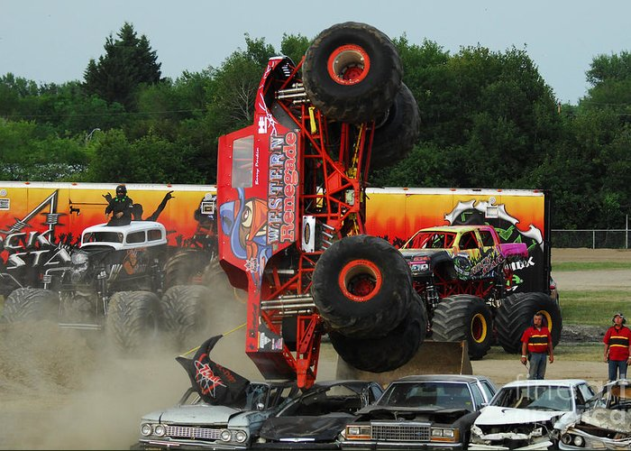 Monster Trucks Size Matters 3 Greeting Card