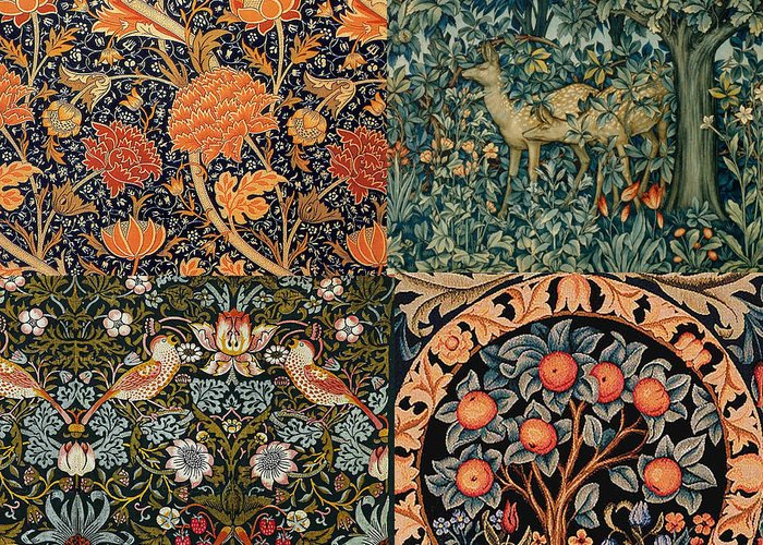 Tapestries - Textiles Digital Art Greeting Cards