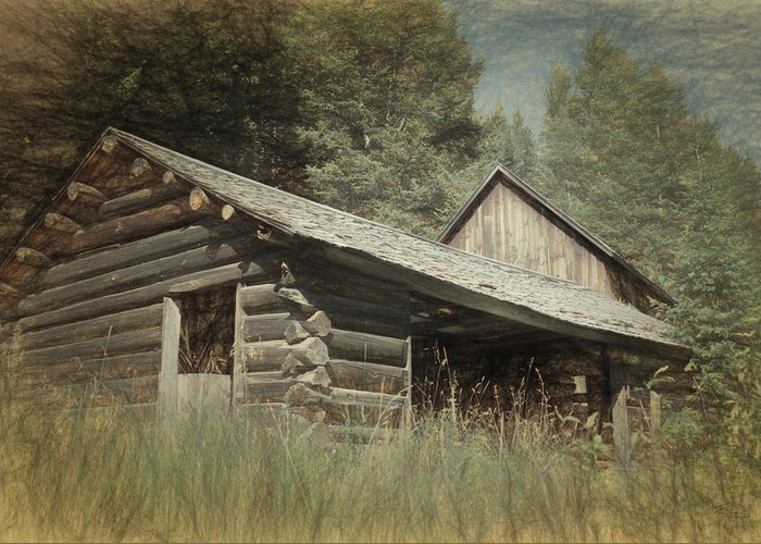 Montana Greeting Card featuring the photograph Montana Cabin by Richard Rizzo