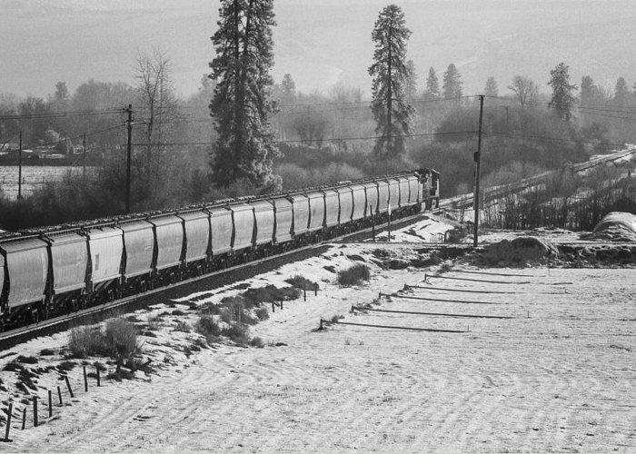 Montana Greeting Card featuring the photograph Montana Train by Paul Bartoszek