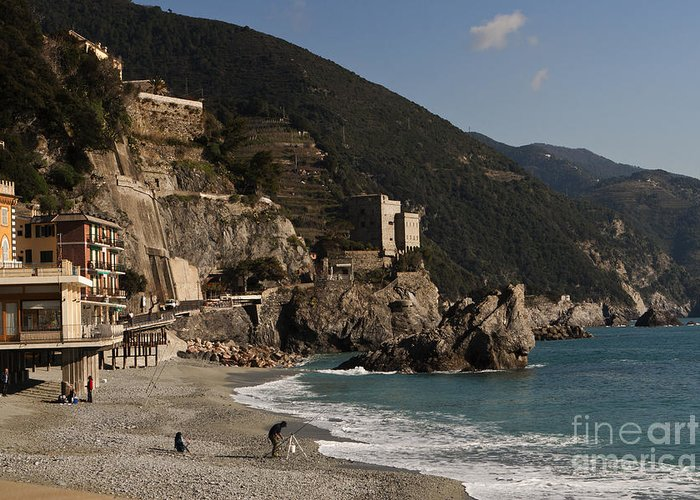 Monterosso Al Mare Greeting Card featuring the photograph Monterosso Al Mare by Leslie Leda