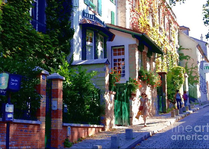 Montmartre Greeting Card featuring the photograph Walk In Montmartre by Jacqueline M Lewis