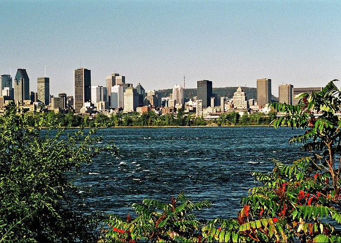 North America Greeting Card featuring the photograph Montreal - Sur Le Fleuve by Juergen Weiss