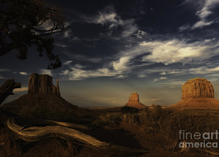 Monument Valley Greeting Card featuring the photograph Monument Valley 1 by Richard Mason