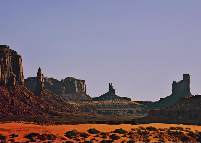 Monument Greeting Card featuring the photograph Monument Valley - An Iconic Landmark by Christine Till