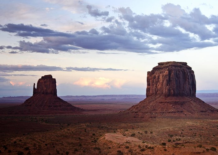 Monument Valley Greeting Card featuring the photograph Monument Valley At Sunset by Saija Lehtonen