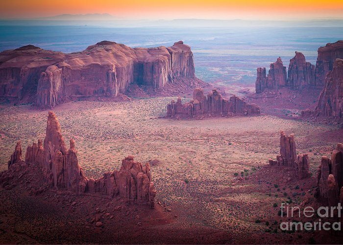 America Greeting Card featuring the photograph Monument Valley From Hunts Mesa by Inge Johnsson