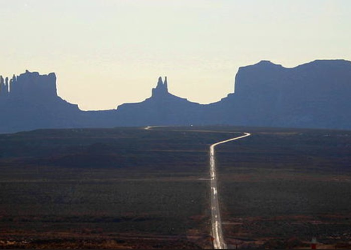 Monument Valley Greeting Card featuring the photograph Monument Valley by Laurie J Penrod