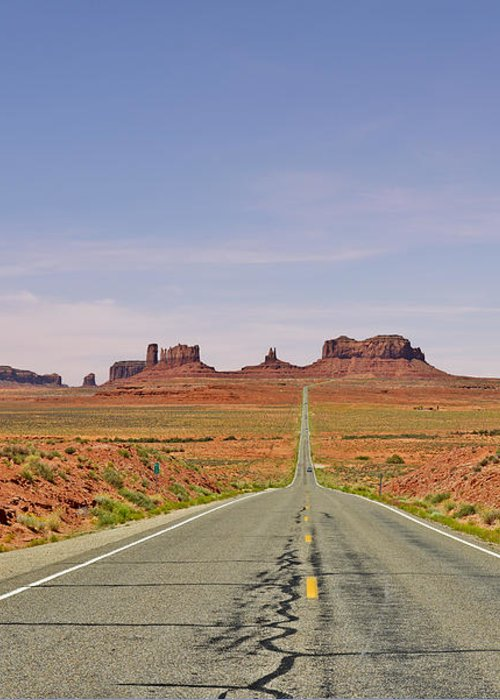 Monument Greeting Card featuring the photograph Monument Valley - The Classic View by Christine Till