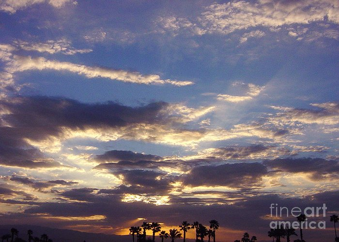 California Greeting Card featuring the photograph Moody Desert Sunrise by Deborah Smolinske