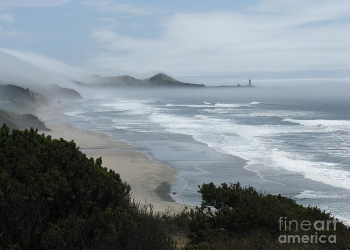 Marine Layer Greeting Card featuring the photograph Moolack Marine 001 by DDs Outdoors