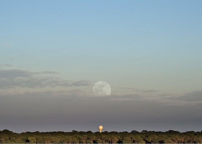 Moonrise Greeting Card featuring the photograph Moon And Tower by Rich Touart