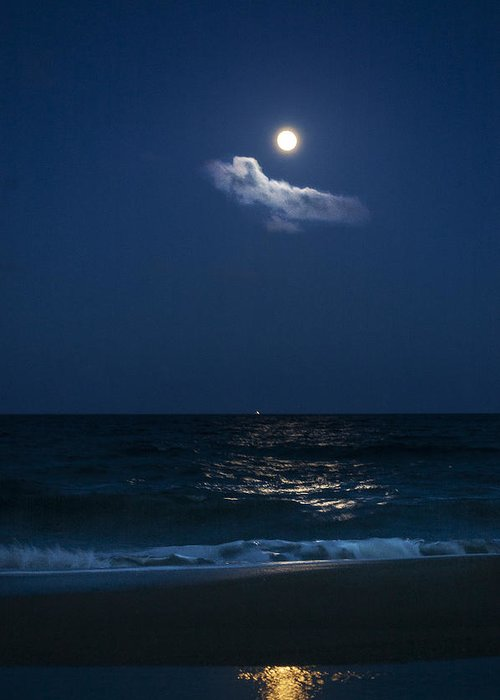 Moon Rise Greeting Card featuring the photograph Moon Cloud by Island Sunrise and Sunsets Pieter Jordaan