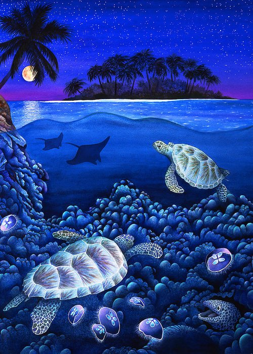 Animal Greeting Card featuring the photograph Moon Glow by Carolyn Steele
