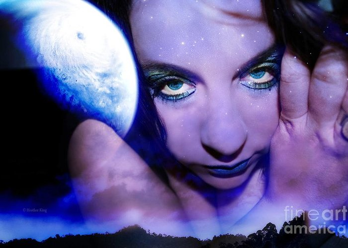 This Image Is  Heather King. You May Not Use This Or Any Of My Images (in Whole Or In Part). All Rights Reserved. Greeting Card featuring the photograph Moon Intoxication by Heather King