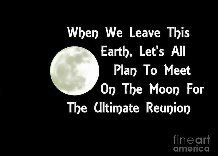 Moon Reunion Greeting Card featuring the photograph Moon Reunion by Stacey Brooks