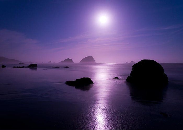 California Greeting Card featuring the photograph Moonlight Reflection by Chad Dutson